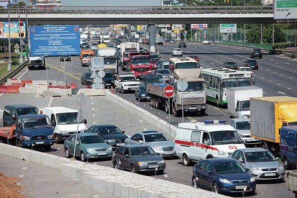 Транспортный коллапс на Ленинградском шоссе в июне-июле 2010 года. Архив