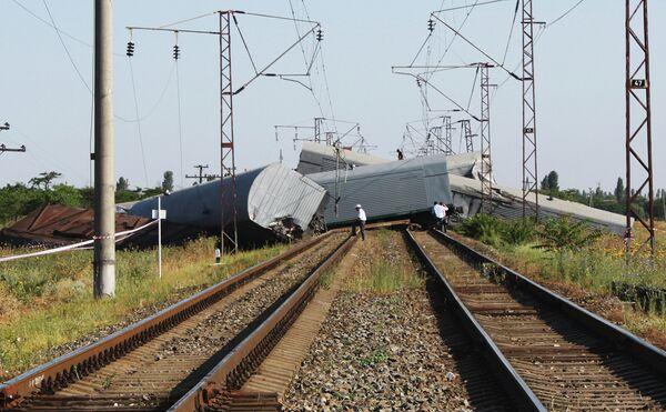 Подрыв грузового поезда в Дагестане
