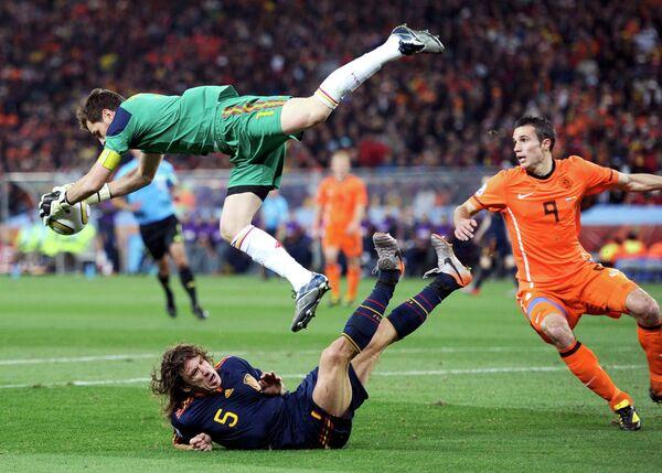 Игровой момент матча Нидерланды - Испания
