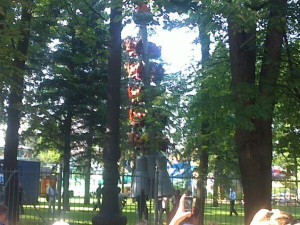 ЧП на аттракционе в парке Санкт-Петербурга