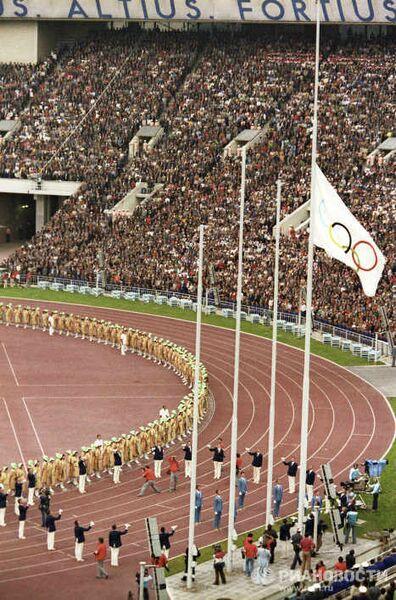 Подъем олимпийского флага