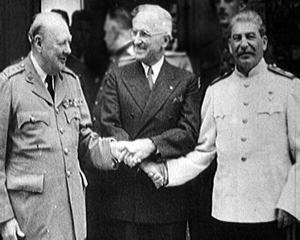Сталин, Трумэн и Черчилль в шаге от холодной войны. Потсдам, 1945 год