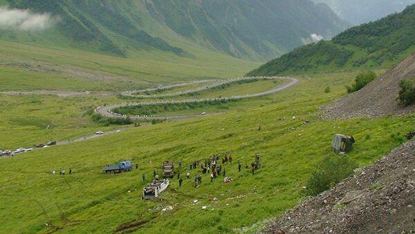 ДТП с автобусом на Транскавказской магистрали