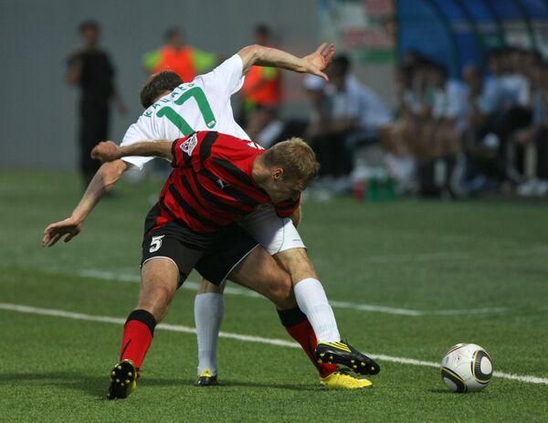 Игровой момент матча  Терек - Амкар