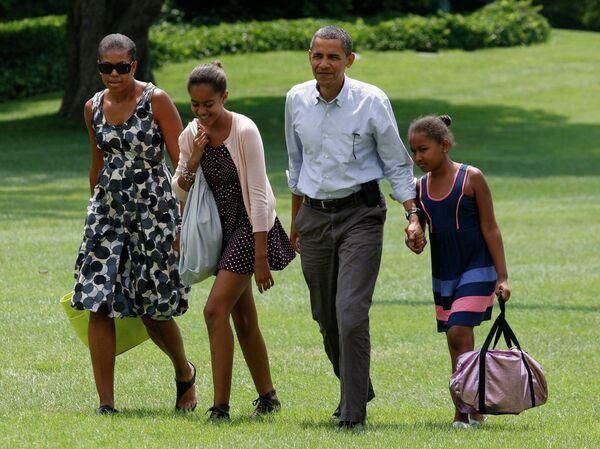Президент США Барак Обама и его семья проводят выходные в штате Мэн на северо-востоке США
