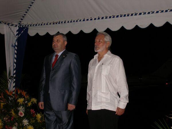Официальный визит президента Южной Осетии Эдуарда Кокойты в Никарагуа
