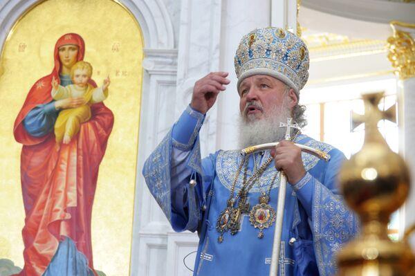 Патриарх Московский и всея Руси Кирилл. Архив.