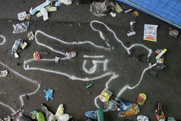 Место гибели одного из погибших на Параде любви в Германии
