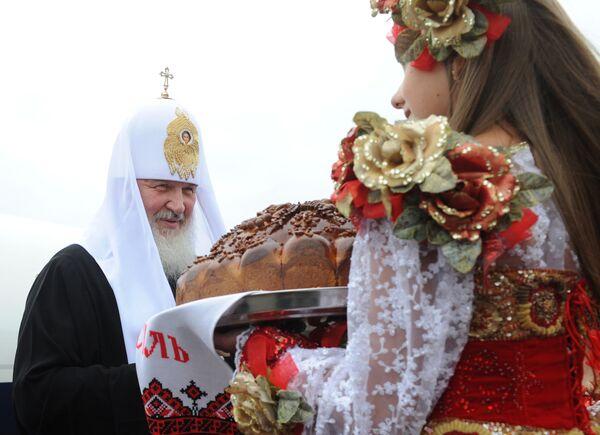 Встреча Патриарха Московского и всея Руси Кирилла в аэропорту города Киева