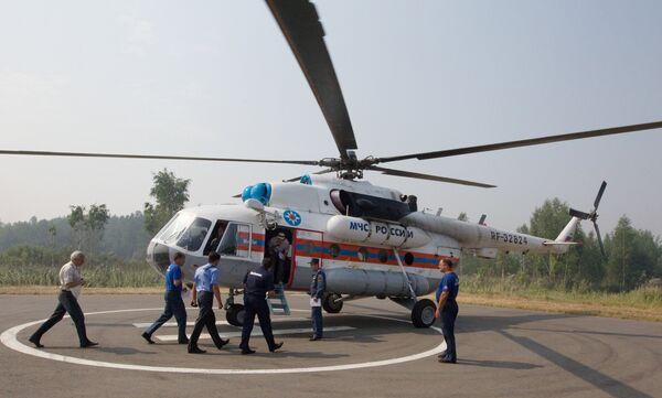 Полеты авиации МЧС в целях обнаружения пожаров на торфяниках