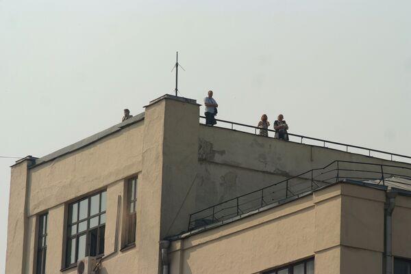 Пожар на площади Тверской заставы