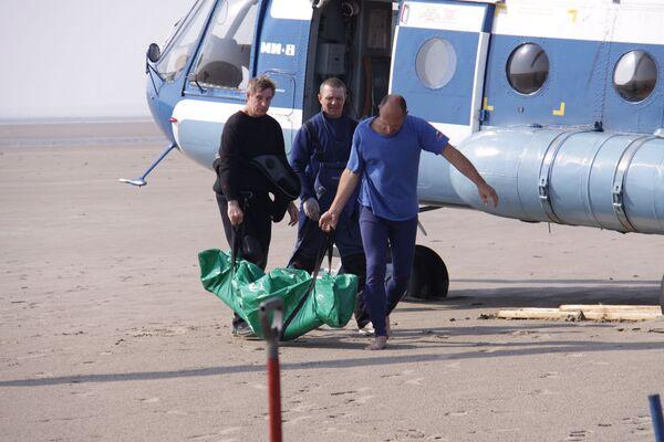 Спасательная операция на месте затопления сухогруза Варнек в Белом море