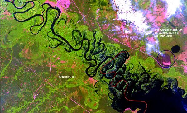 Лесные пожары. Вид из космоса