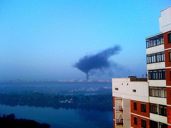 Пожар в Городе мастеров в московском парке Фили