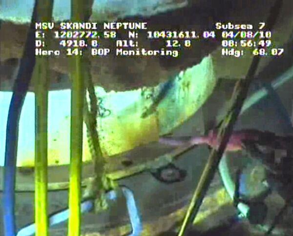 Работы BP по остановке утечки нефти в Мексиканском заливе