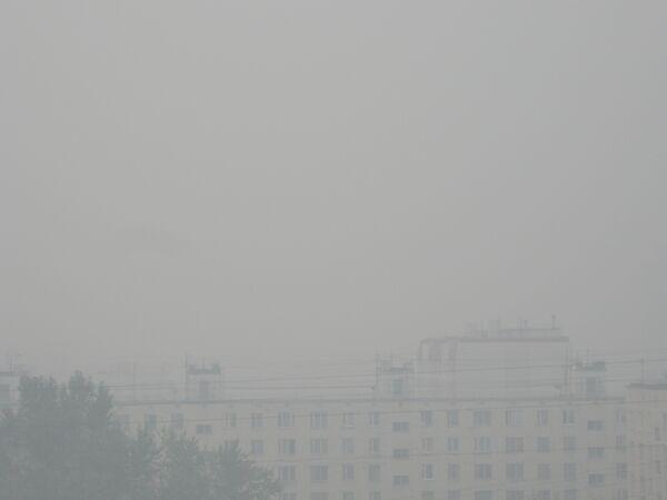 Дым от природных пожаров окутал Москву