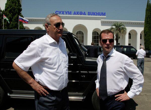 Президент РФ Дмитрий Медведев посетил Абхазию