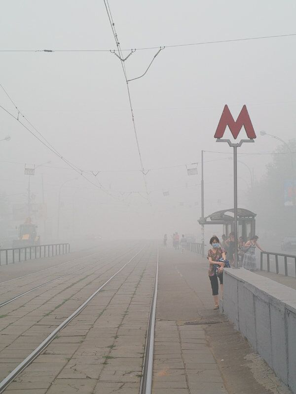 Люди в масках в Москве