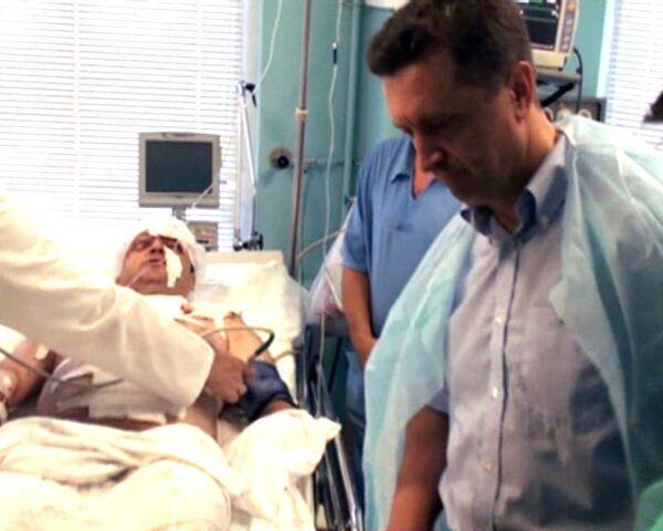 Губернатор Ставрополья навестил пострадавших при взрыве и пообещал помощь