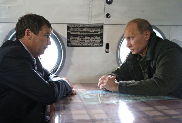 Премьер-министр РФ Владимир Путин встретился с губернатором Магаданской области
