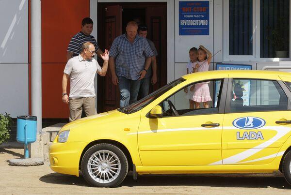 Машина, на которой Владимир Путин ездил по новой трассе Чита – Хабаровск