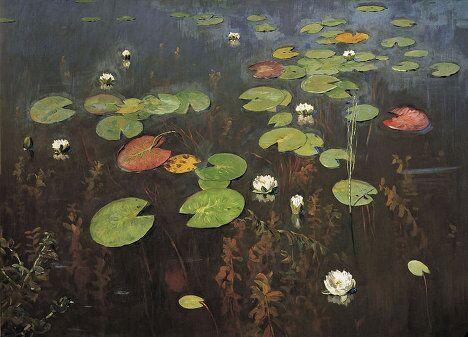 Картина Исаака Левитана Лилии