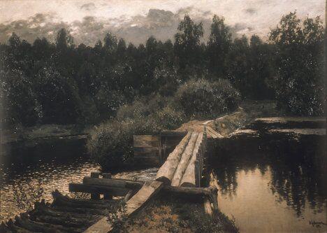 Картина Исаака Левитана У омута, 1892 год.