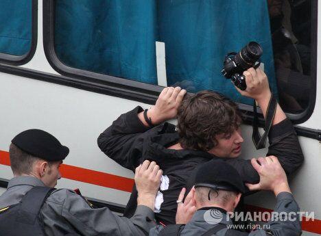 Задержаны участники акции в защиту 31-й статьи Конституции