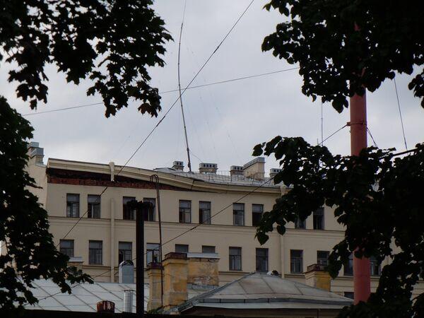 Обрушение дома на Лиговском проспекте в Санкт-Петербурге