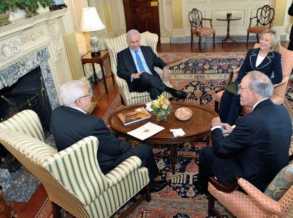 Переговоры глав Израиля и ПНА в Вашингтоне
