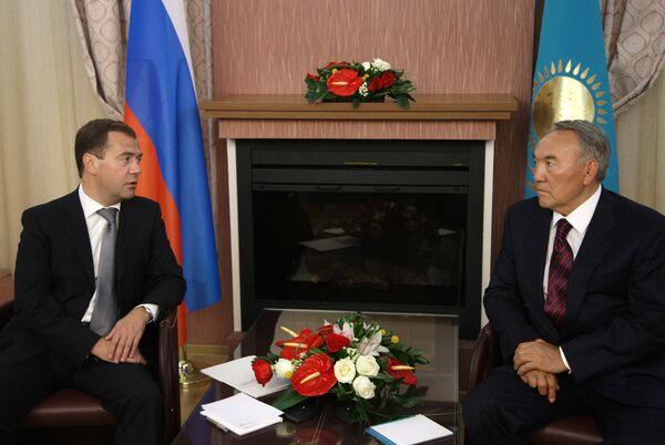 Встреча Дмитрия Медведева и Нурсултана Назарбаева