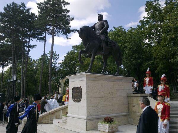 Открытие памятника генералу Ермолову в Пятигорске