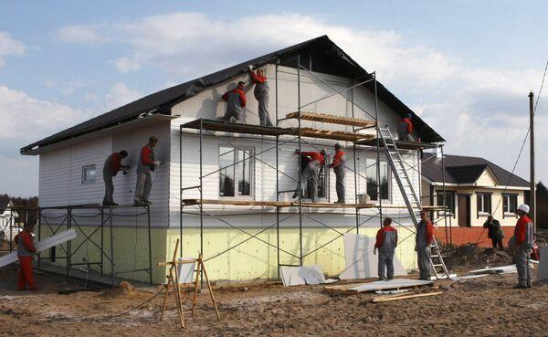 Строительство нового дома в поселке Верхняя Верея