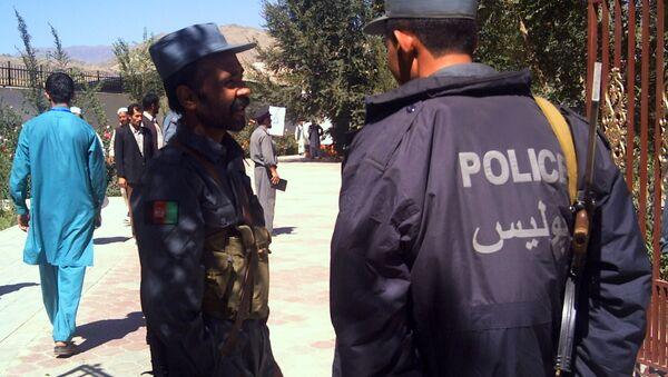 Полиция на выборах в Афганистане. Архивное фото