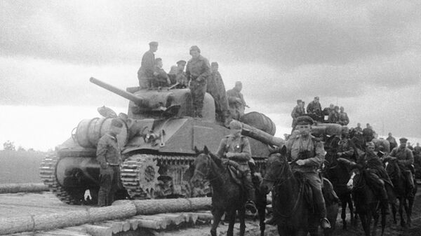 На марше части Юго-Западного фронта