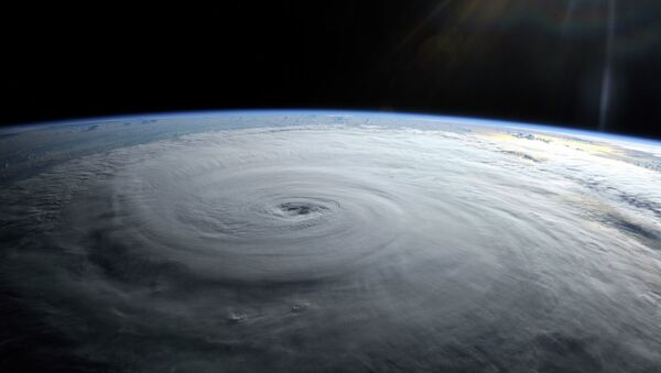 Ураган Даниэл. Вид из космоса. Архивное фото