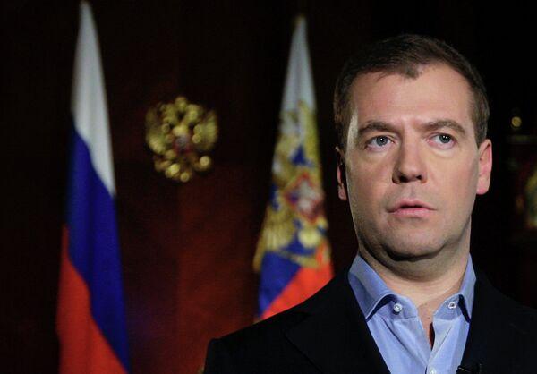 Президент РФ Д. Медведев опубликовал новое обращение в личном видеоблоге