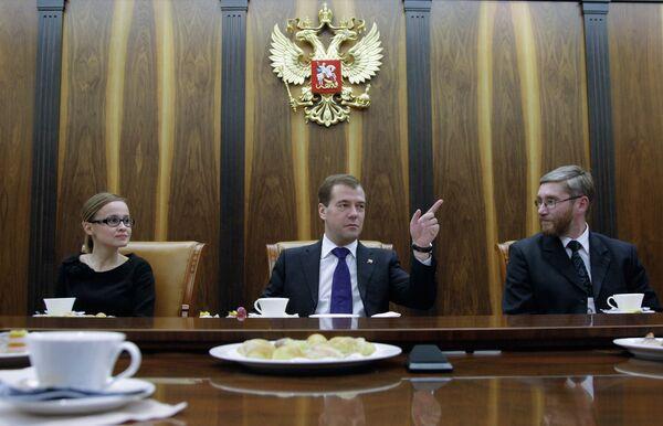 Дмитрий Медведев встретился с лауреатами конкурса Учитель года-2010