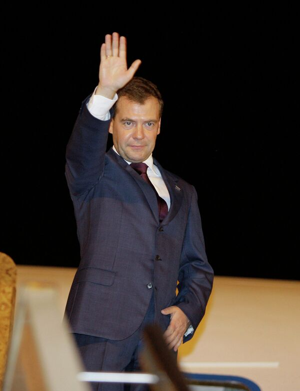 Президент РФ Д.Медведев прибыл на Ларнаку