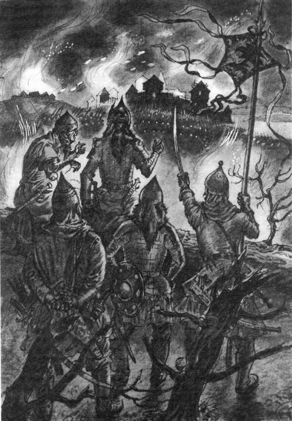 Монголо-татары у стен Москвы