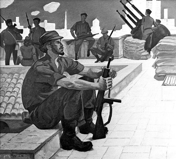 Репродукция картины П.Оссовского Куба на страже