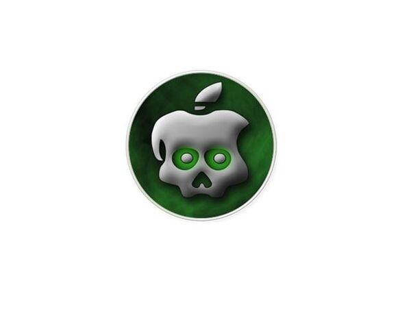 Логотип хакерской программы GreenPois0n для взлома Apple iPhone 4