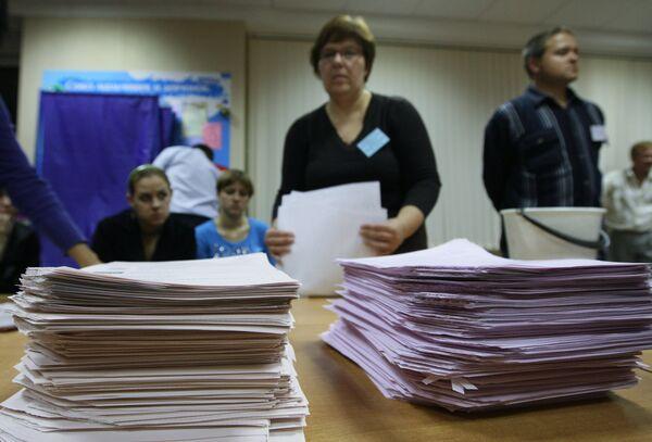 Подсчет голосов после выборов в Единый день голосования 10 октября 2010 года