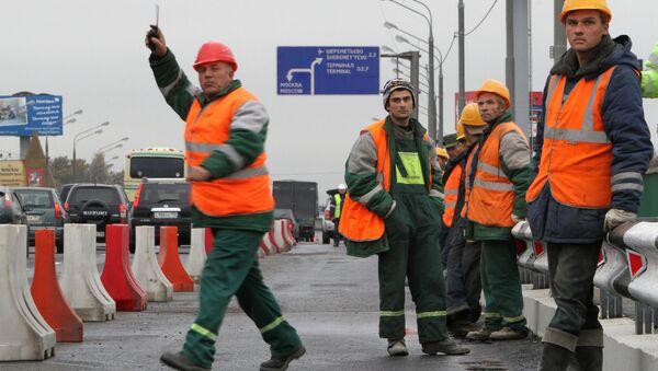 Дорожные рабочие. Архивное фото