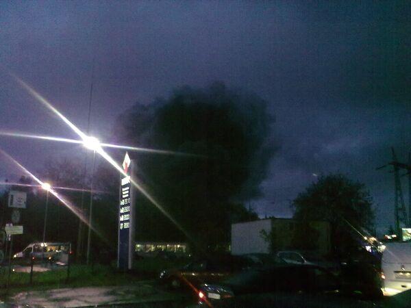 Пожар в здании Петровско-Разумовского рынка
