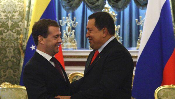 Президент РФ Д.Медведев првел в Кремле переговоры с президентом Венесуэлы Уго Чавесом