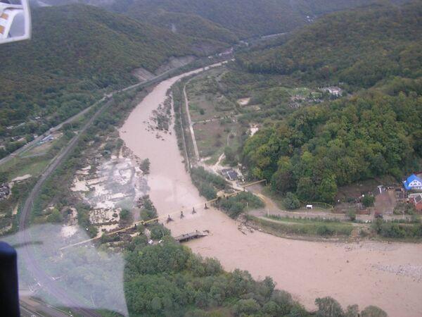 Пострадавшие от дождевых паводков районов Краснодарского края