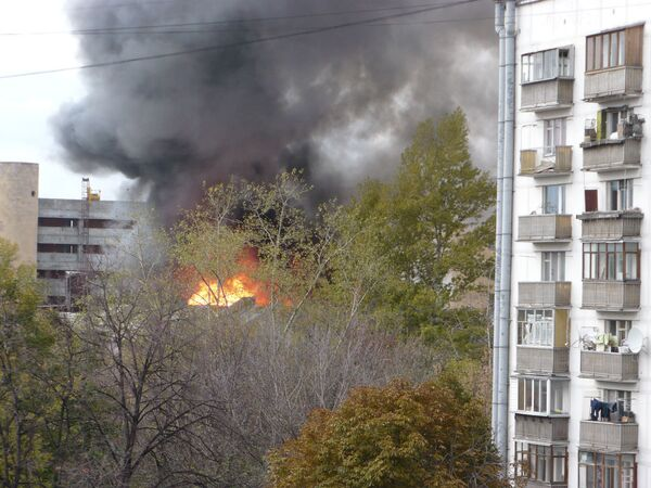 Пожар в общежитии института стали и сплавов в Москве