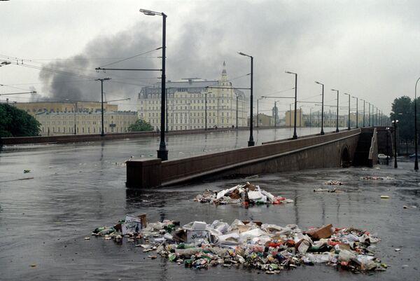 На одной из улиц Москвы