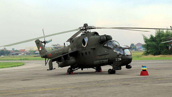 Ми-35П в Индонезии. Архивное фото